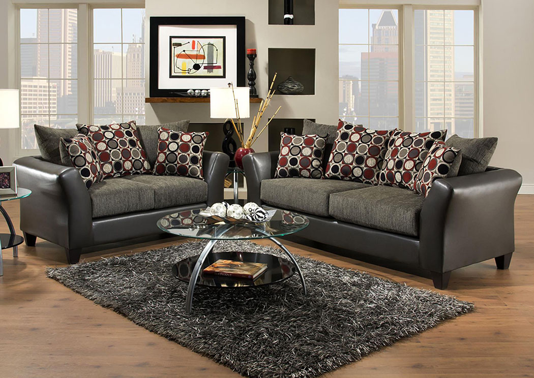 Atlantic Bedding And Furniture Savannah Ga Avanti Graphite Surge Graphite Sofa And Loveseat