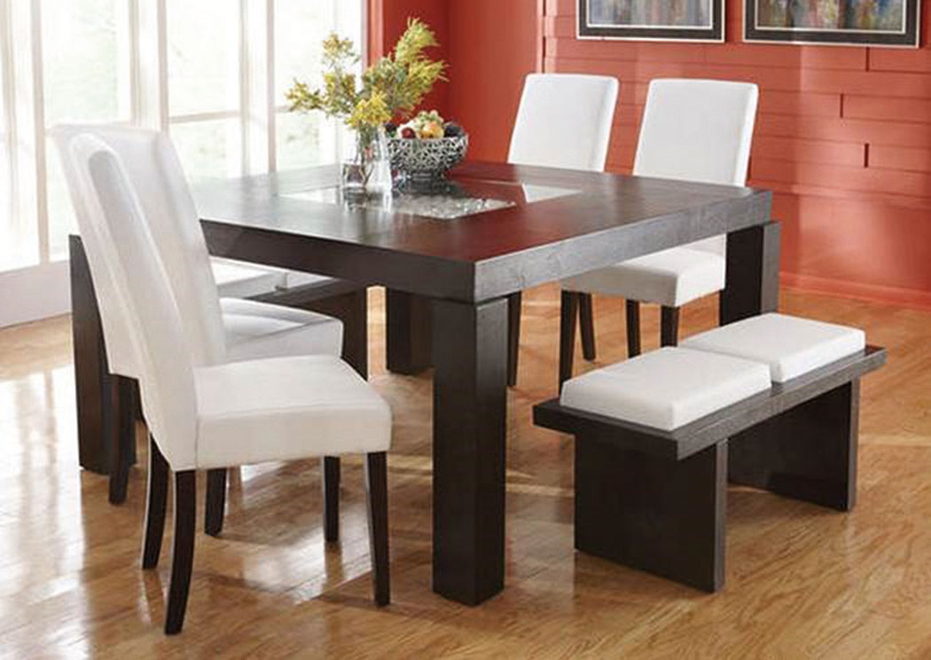 Lucky White Dining Table w/ 4 Chairs (Bench Available),ABF eCircular Specials