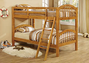 Twin Solid Wood Oak Bunkbed