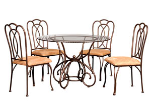 Tamex Glass Table w/ 4 Chairs