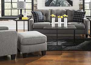 Sofa and Grey Accent Chair