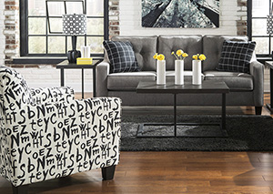 Sofa and Raven Accent Chair