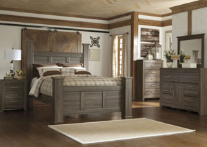 Queen Poster Bed w/ Dresser, Mirror, Nightstand $999 & get the Drawer Chest for FREE