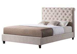 Giles TaupeUpholstered King Bed