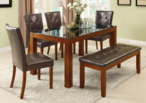 Dining Table w/ 4 Chairs and Bench
