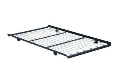 Twin Black Metal RollOut Trundle Bed Frame w/Link Spring