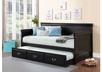 Bailee Black Twin Trundle