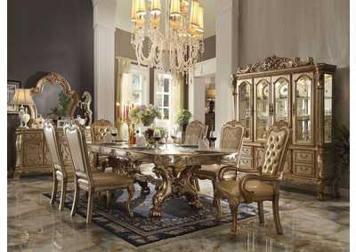 Dresden Gold Patina & Bone Dining Table