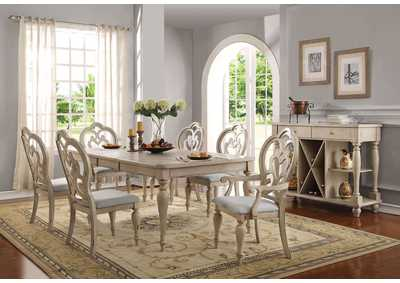 Abelin Antique White Dining Table