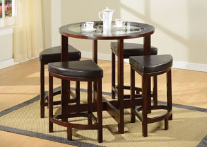 Patia Espresso Counter Height Stool (Set4)