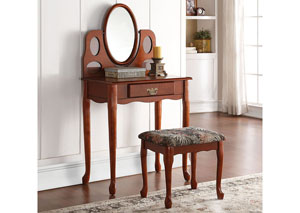 Aldine Oak Vanity Set