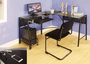 Brielle Black Computer Desk