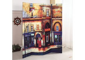Trudy Scenery 4Panel Wooden Screen
