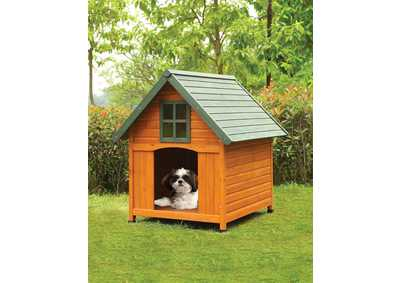 Wade Honey Oak & Green Pet House
