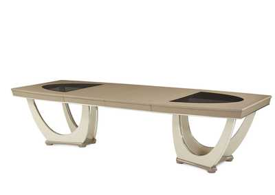 Overture Cristal Rectangular Dining Table w/2 x 20