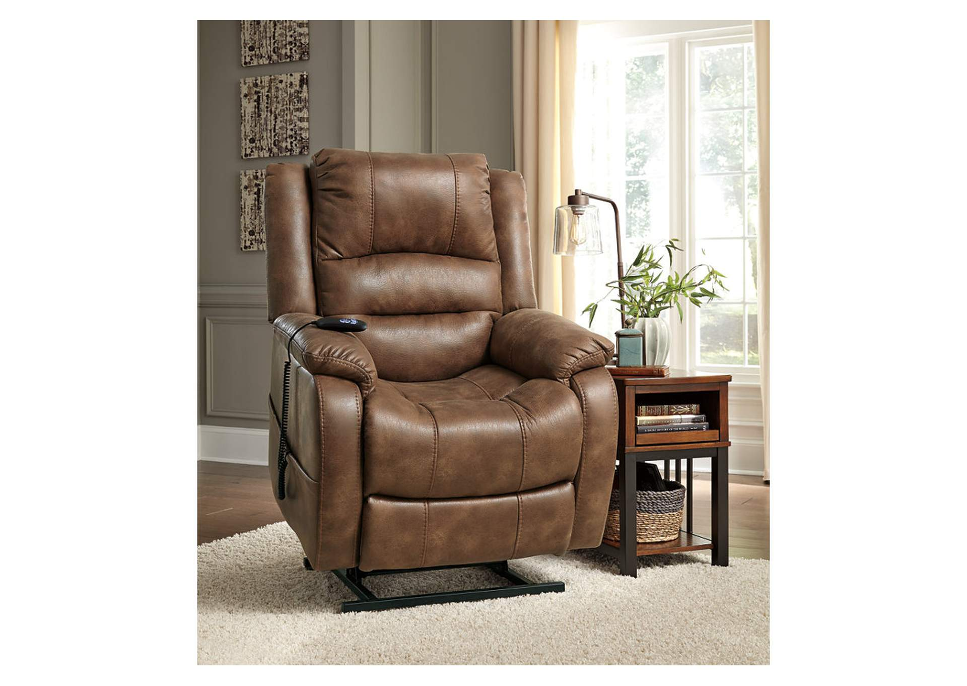Yandel Saddle Power Lift Recliner,ABF Signature Design by Ashley
