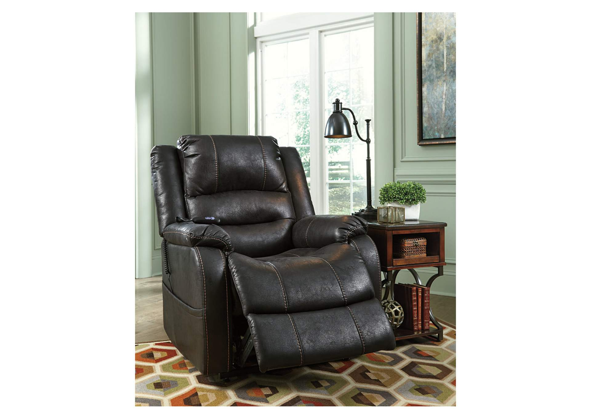 Yandel Black Power Lift Recliner,ABF Signature Design by Ashley