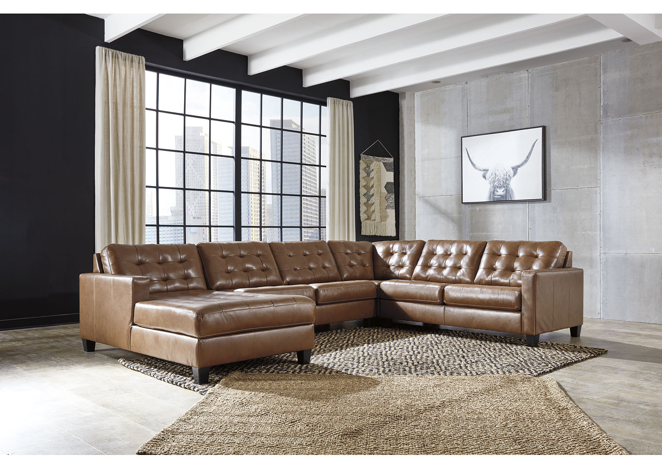 Baskove Auburn Right-Arm Facing Chaise Sectional,Signature Design By Ashley