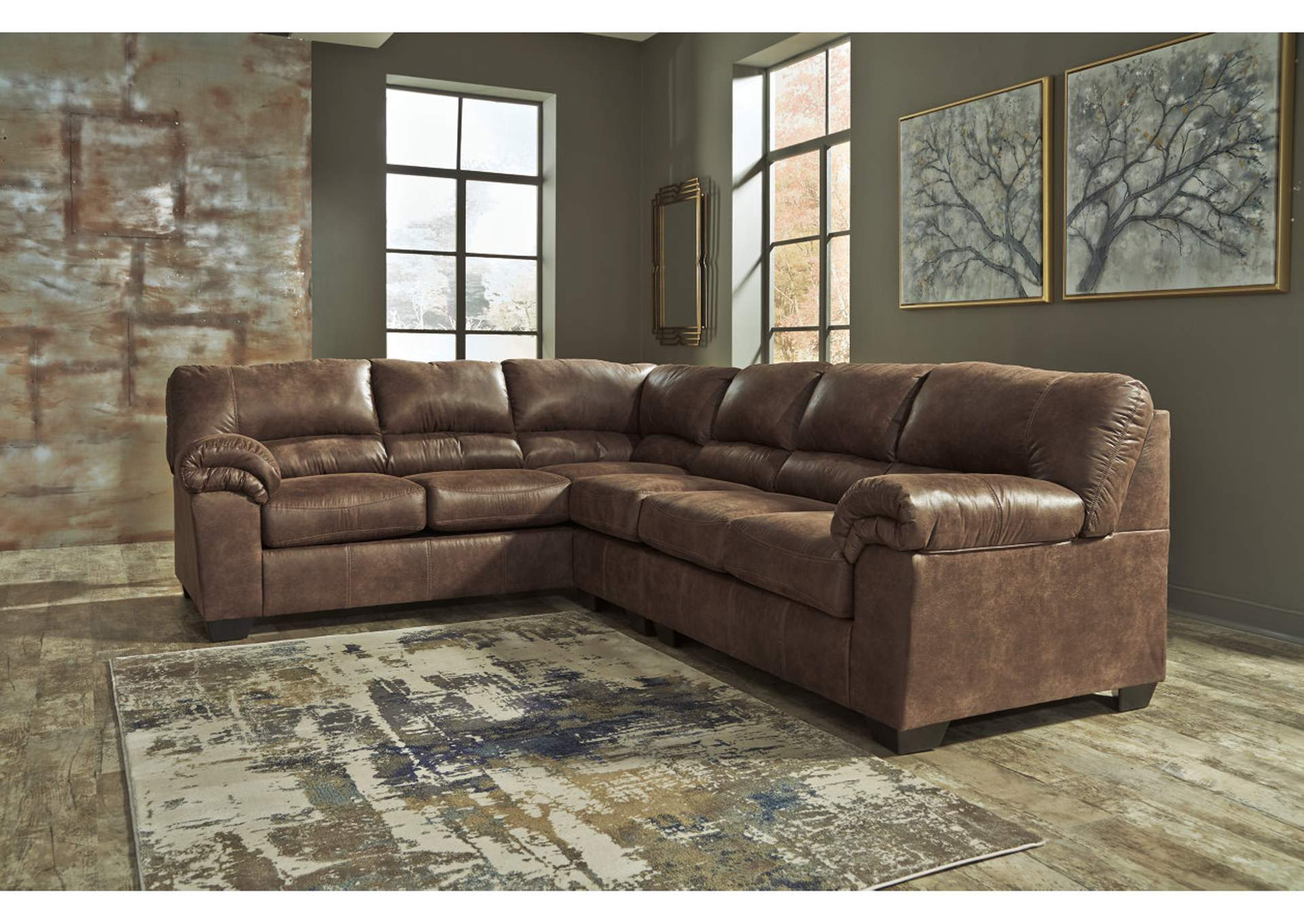 Bladen Coffee Right Facing Extended Sectional,ABF Signature Design by Ashley