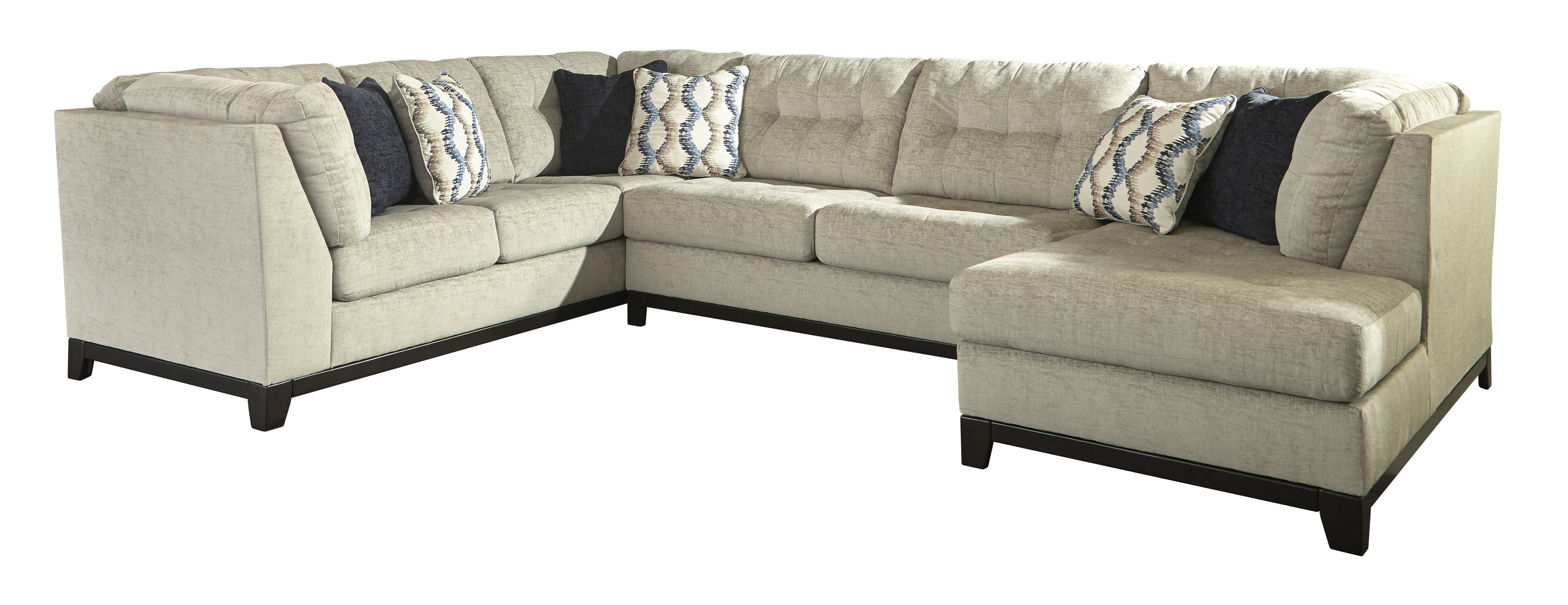 Beckendorf Chalk Left Facing Extended Sofa Sectional,Benchcraft