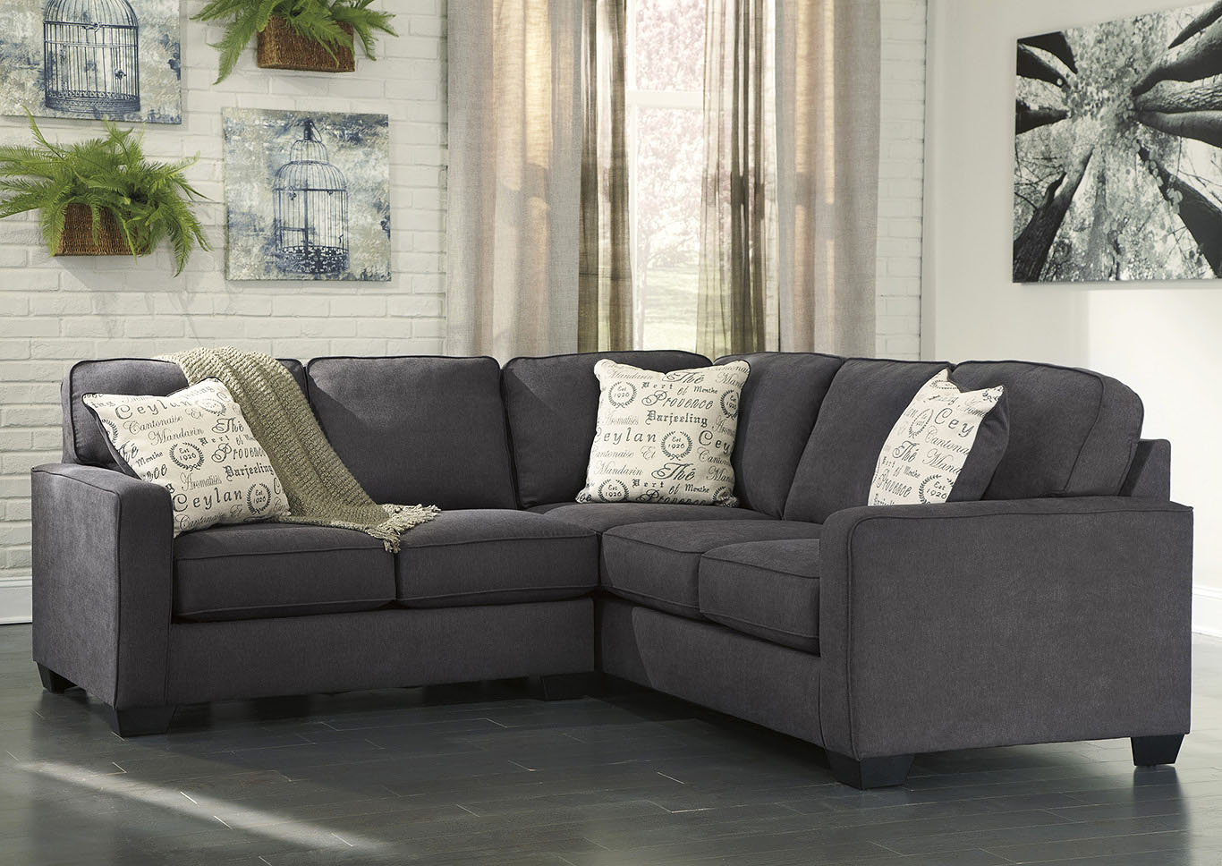Alenya Charcoal Right Facing Sectional,Signature Design By Ashley