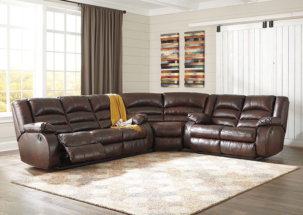 Levelland Cafe Reclining Sectional,Signature Design By Ashley