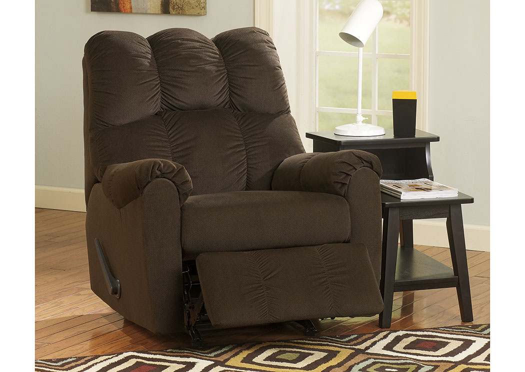 Raulo Chocolate Rocker Recliner,Signature Design by Ashley
