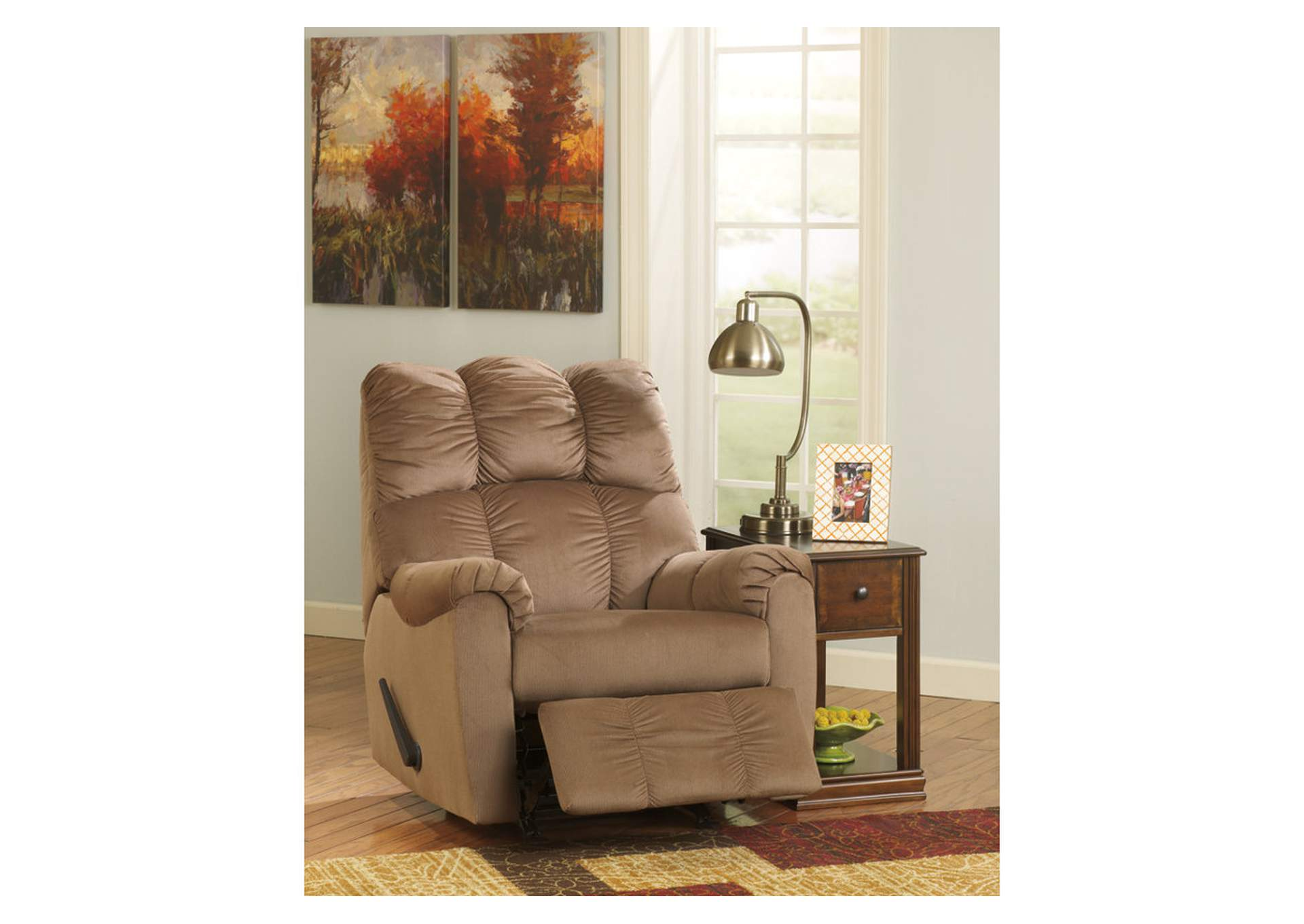 Raulo Mocha Rocker Recliner,Signature Design by Ashley