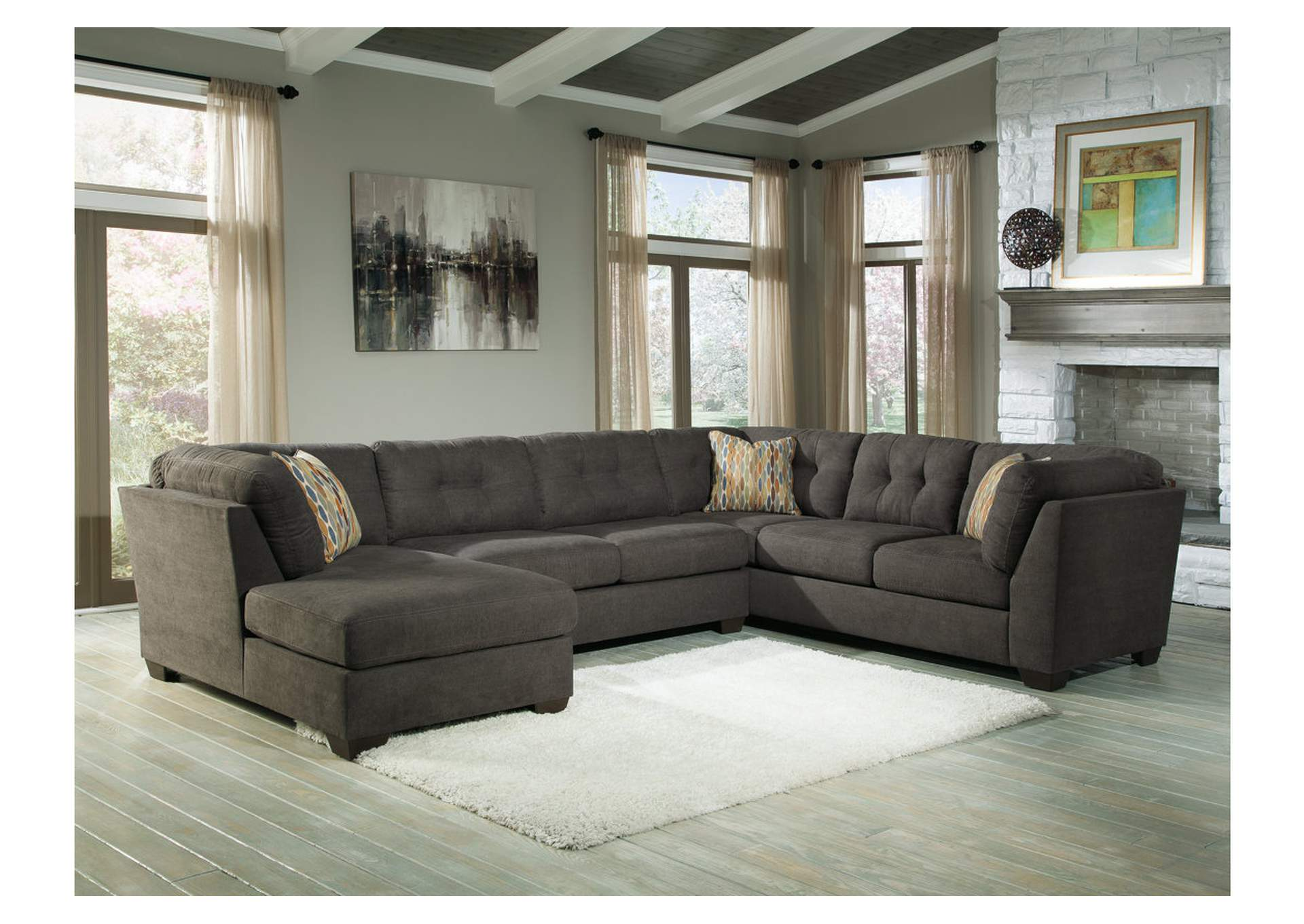 Delta City Steel Left Arm Facing Corner Chaise SectionalBenchcraft : right arm facing chaise - Sectionals, Sofas & Couches