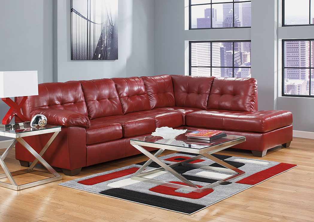 Alliston DuraBlend Salsa Right Arm Facing Chaise End Sectional,Signature Design By Ashley
