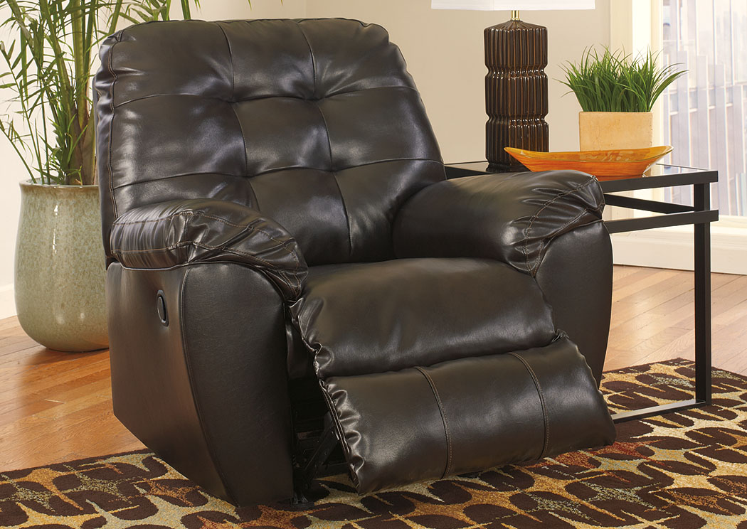 Alliston DuraBlend Chocolate Rocker Recliner,Signature Design By Ashley
