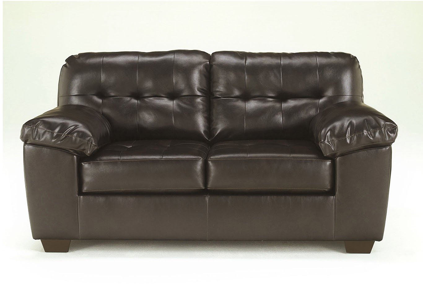 Alliston DuraBlend Chocolate Loveseat,ABF Signature Design by Ashley