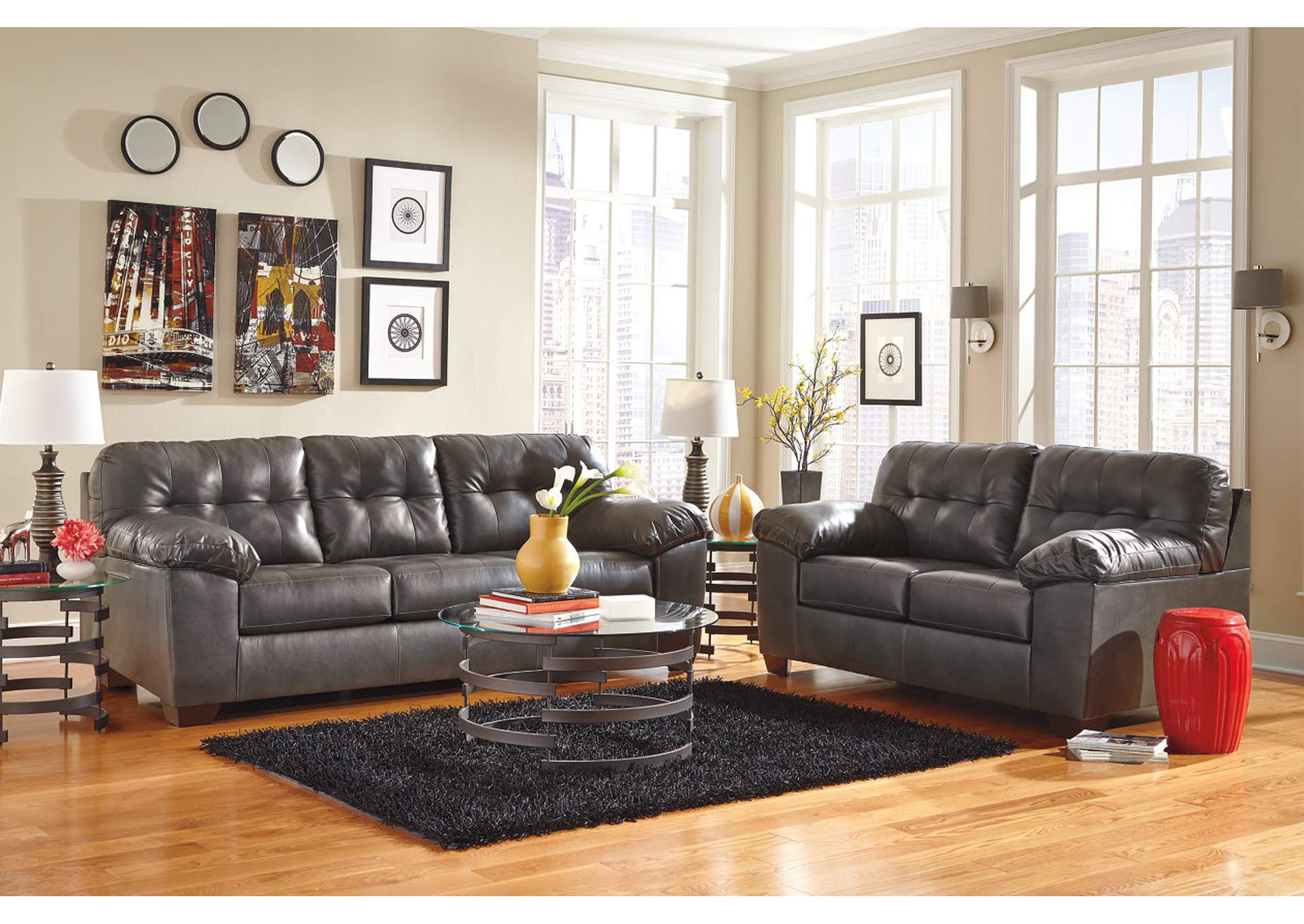 Alliston DuraBlend Gray Sofa & Loveseat,Signature Design by Ashley