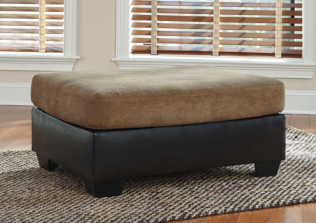 Armant Mocha Oversized Accent Ottoman,Signature Design by Ashley