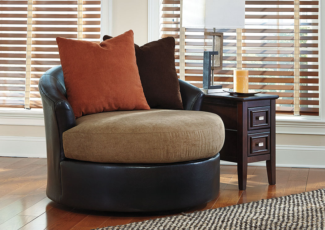 Armant Mocha Swivel Accent Chair,Signature Design By Ashley