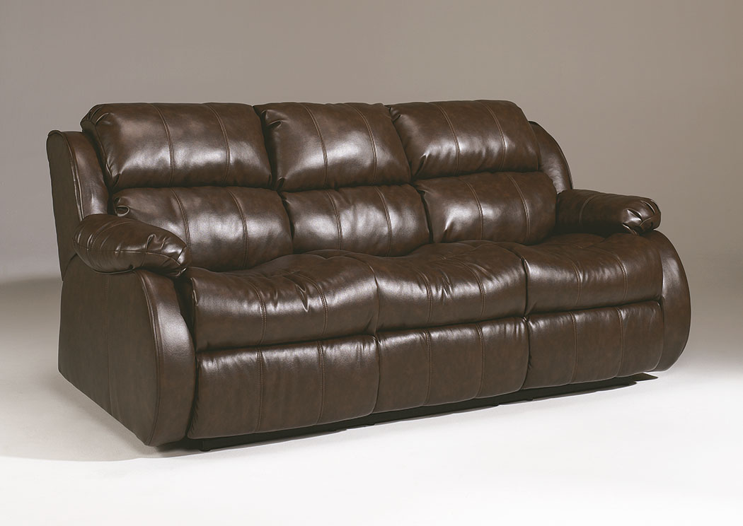 DuraBlend Cafe Reclining Sofa w/Drop Down Table,Millennium