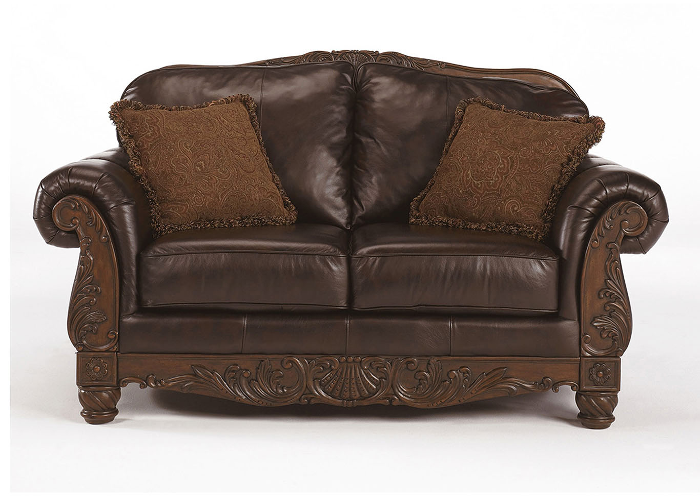 North Shore Dark Brown Loveseat,Millennium