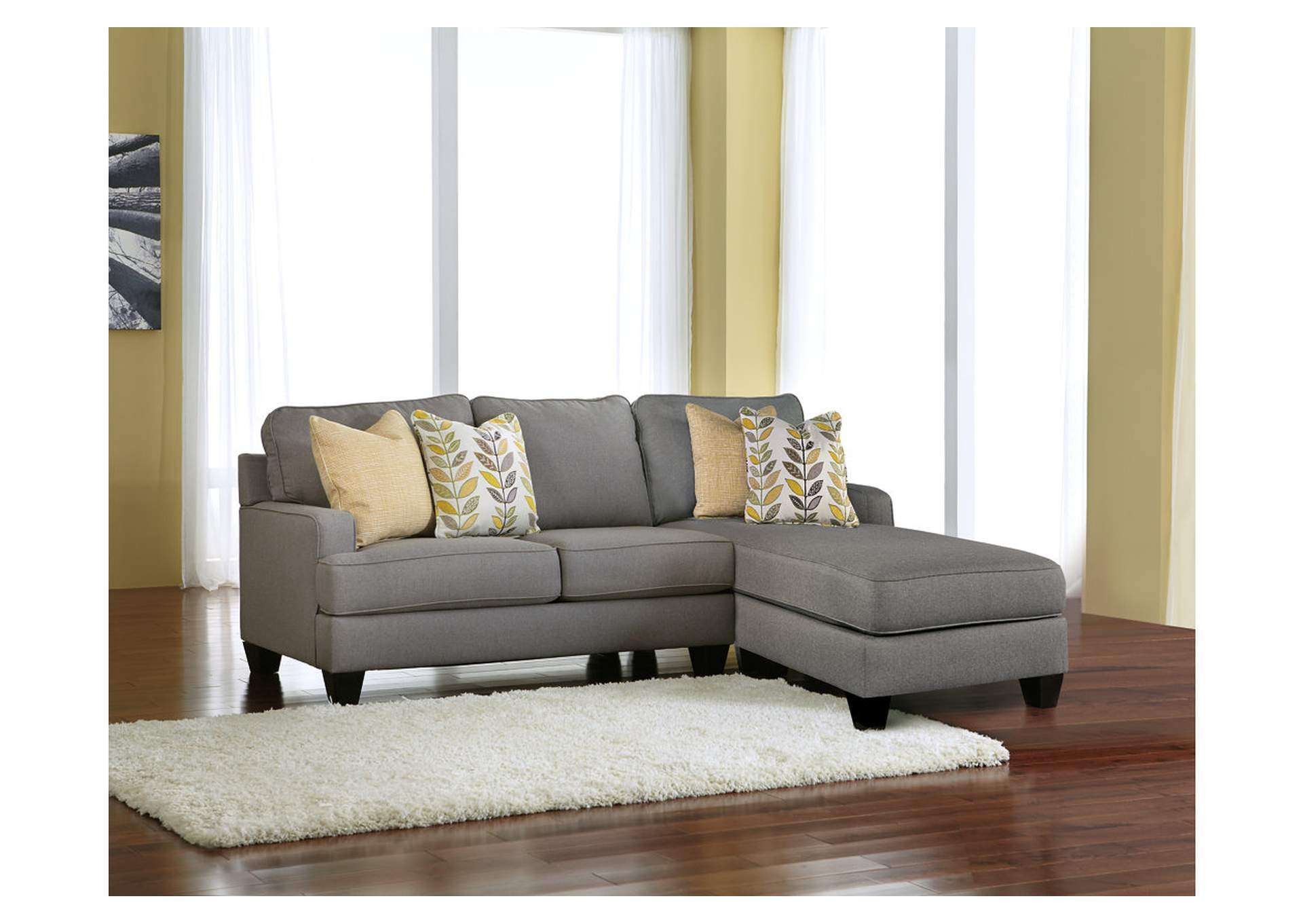 Alabama furniture market chamberly alloy chaise end sectional for Ashley microfiber sectional with chaise
