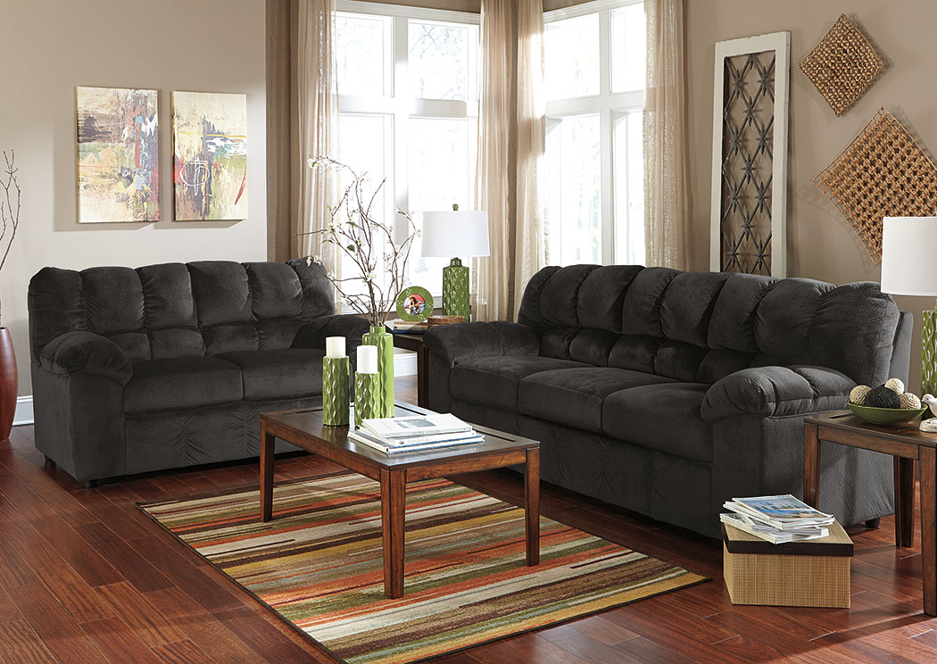 Julson Ebony Sofa U0026 Loveseat