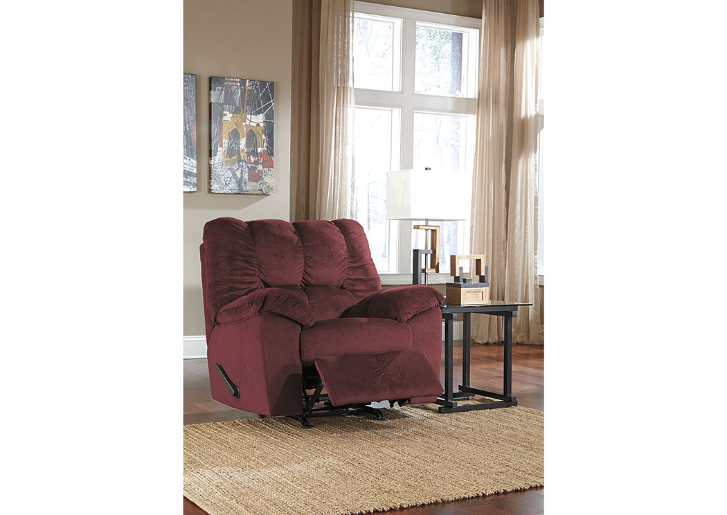Julson Burgundy Rocker Recliner,Signature Design By Ashley