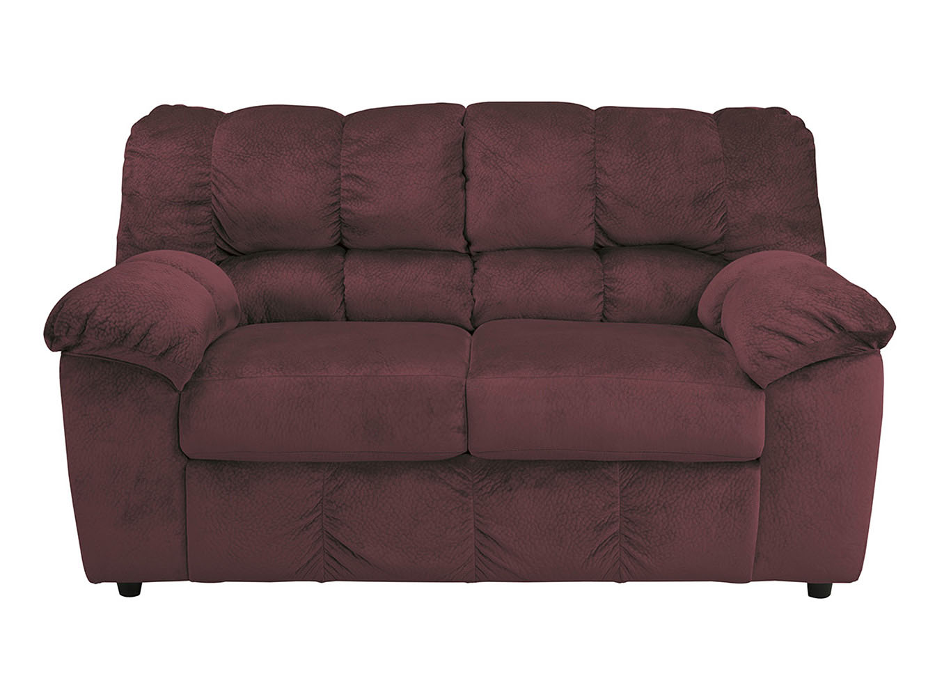 Furniture liquidators home center julson burgundy loveseat for Furniture liquidators