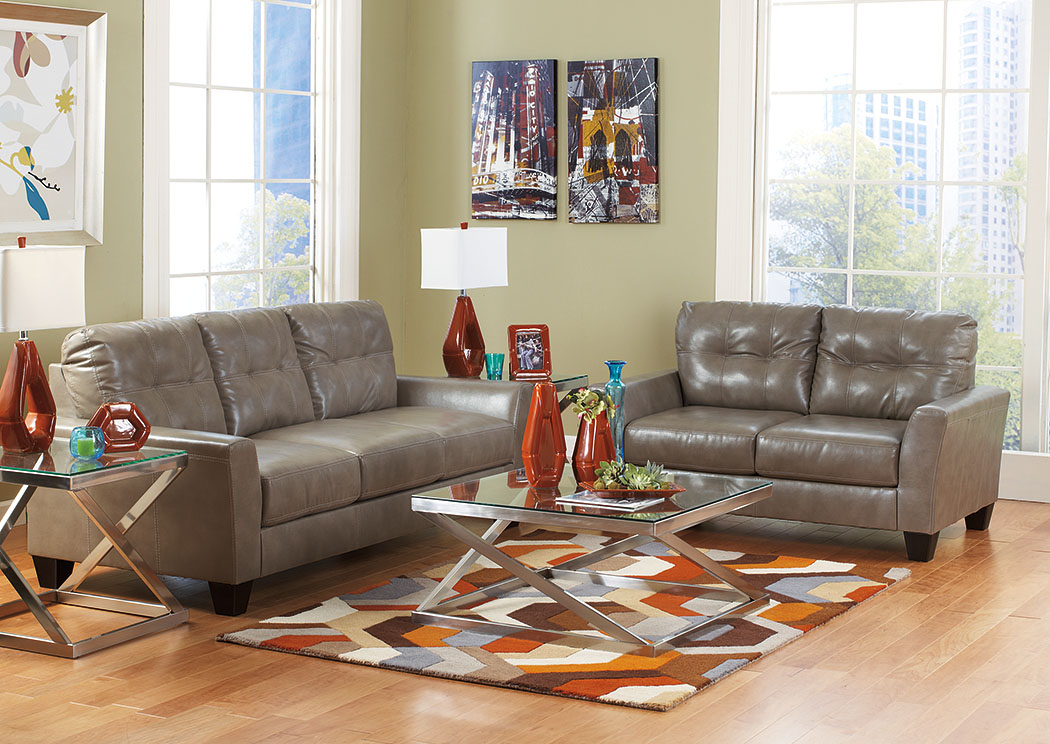 Paulie DuraBlend Quarry Sofa & Loveseat,Benchcraft