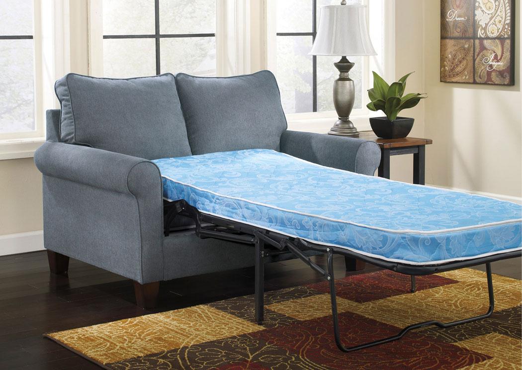 Overstock Furniture Langley Park Catonsville Alexandria Lanham Zeth Denim Twin Sofa Sleeper