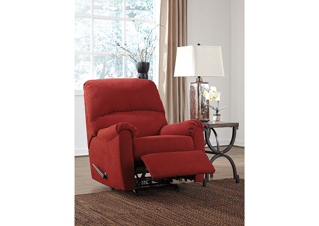 Zeth Crimson Rocker Recliner,Signature Design By Ashley