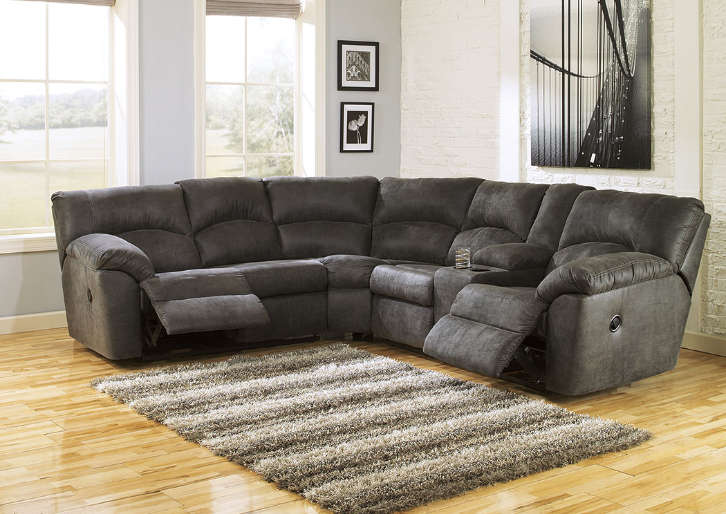 Tambo Pewter Reclining Sectional,Signature Design By Ashley