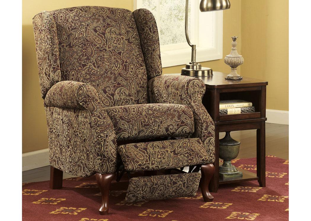 WCC Furniture Lafayette LA Nadior Pasiley High Leg Recliner