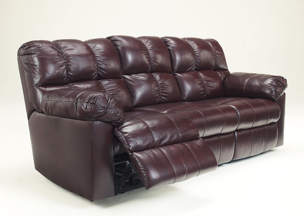 Kennard Burgundy Reclining Power Sofa,Signature Design by Ashley