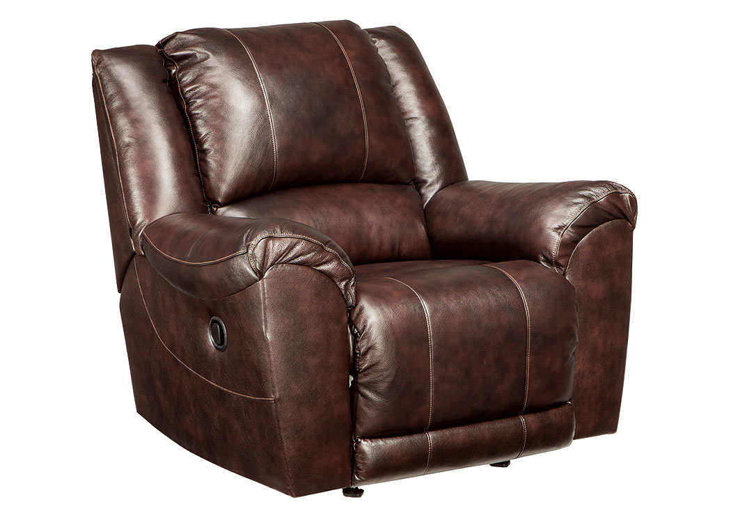 Yancy Walnut Rocker Recliner,Signature Design by Ashley