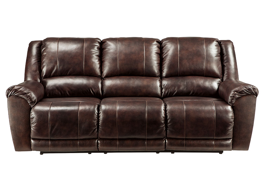 Yancy Walnut Reclining Power Sofa,ABF Signature Design by Ashley