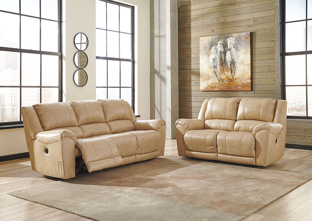 Yancy Galaxy Power Reclining Sofa and Loveseat,Signature Design by Ashley